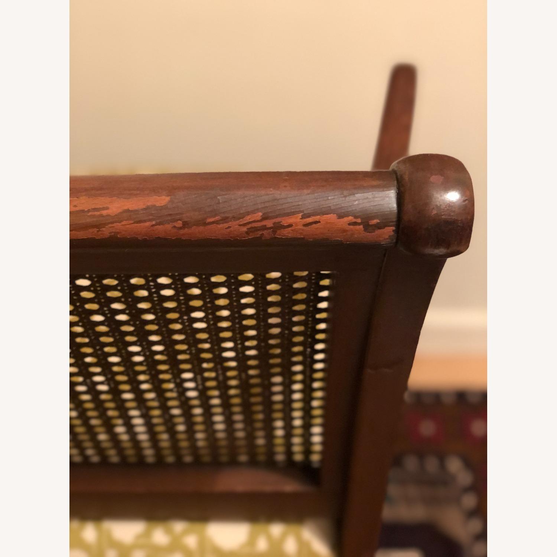 Wood and Rattan Armchair - image-12