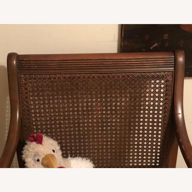 Wood and Rattan Armchair - image-4