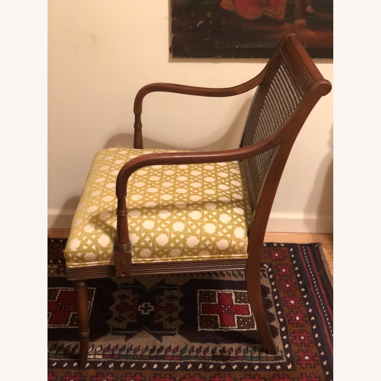Wood and Rattan Armchair - image-16
