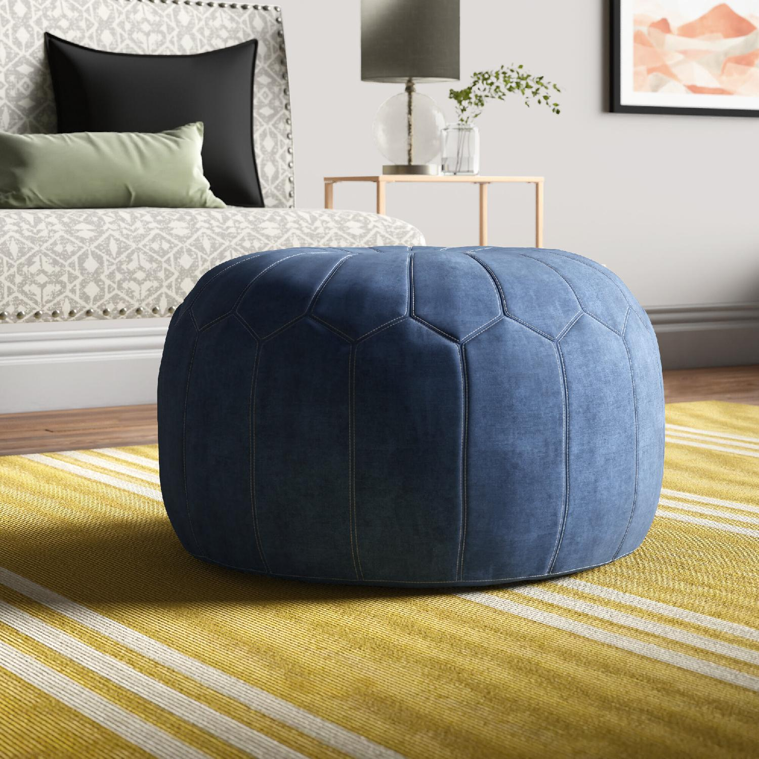 Wayfair Anthropologie Rug with Pouf - image-5