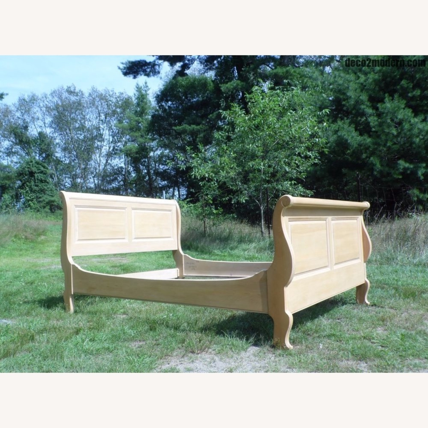 Ethan Allen Queen Sized Sled Bed Frame - image-1