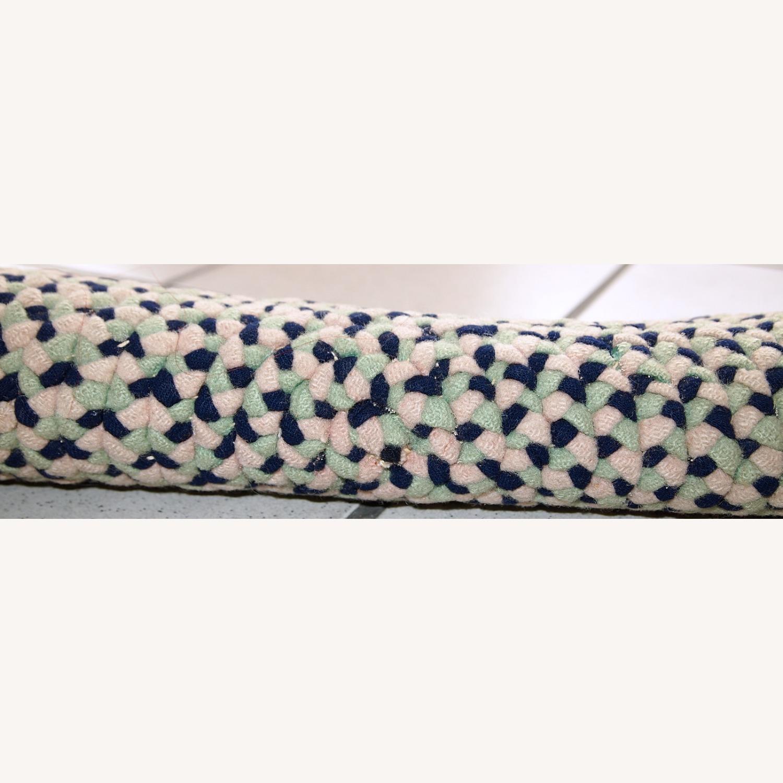 Handmade American Braided Sit Covers Rugs 1C460 - image-7