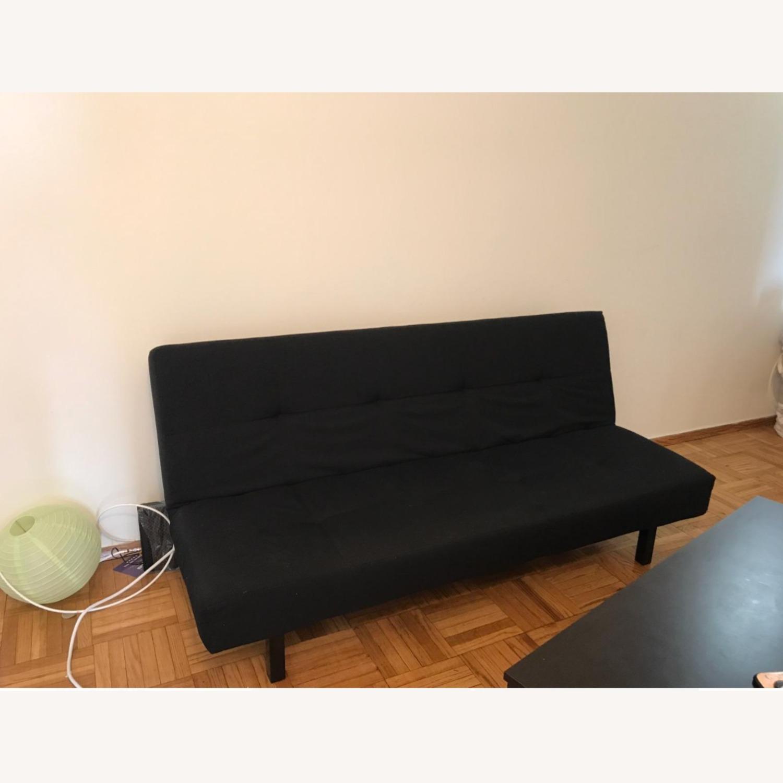 IKEA BALKARP Sleeper sofa, Knisa black - image-6