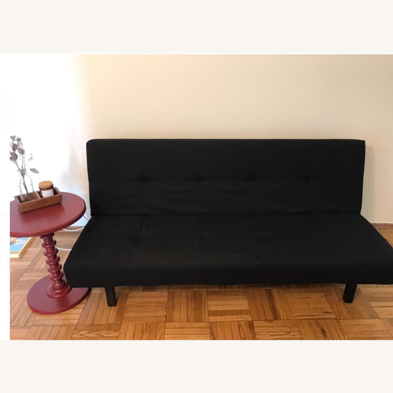 IKEA BALKARP Sleeper sofa, Knisa black - image-4
