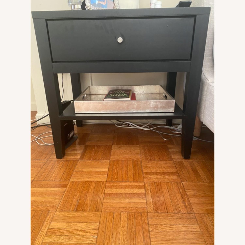 Room & Board  Black Single Nightstand - image-1