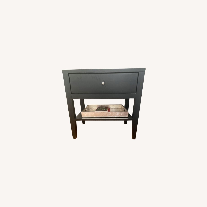 Room & Board  Black Single Nightstand - image-0