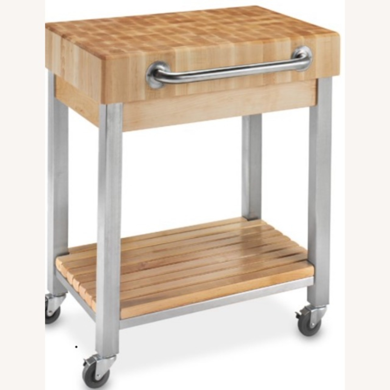 Boos Butcher Block Kitchen Cart - image-1