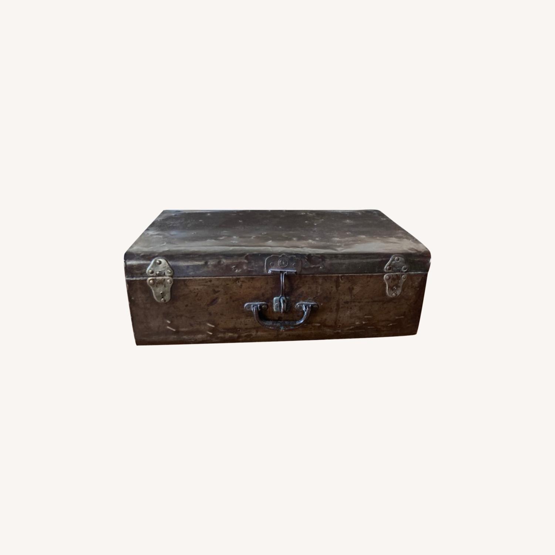 Restoration Hardware Metal Luggage - image-0