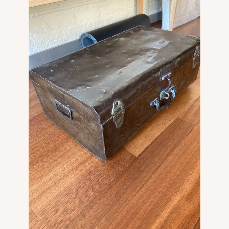 Restoration Hardware Metal Luggage - image-1