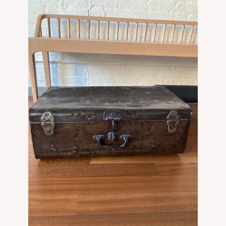 Restoration Hardware Metal Luggage - image-2