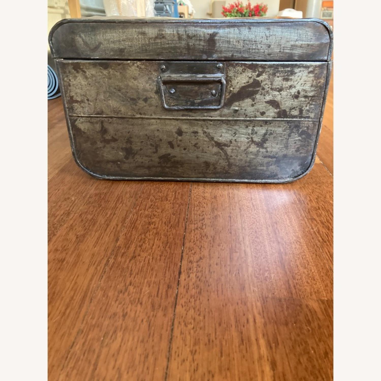 Restoration Hardware Metal Luggage - image-3
