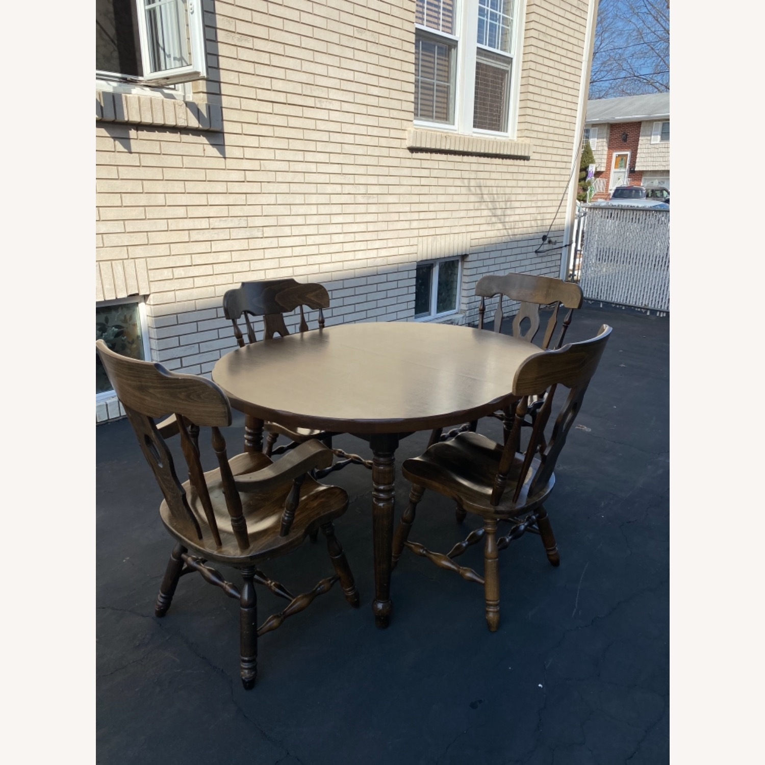 Solid Wood Dining Table with 4 Chairs - image-2