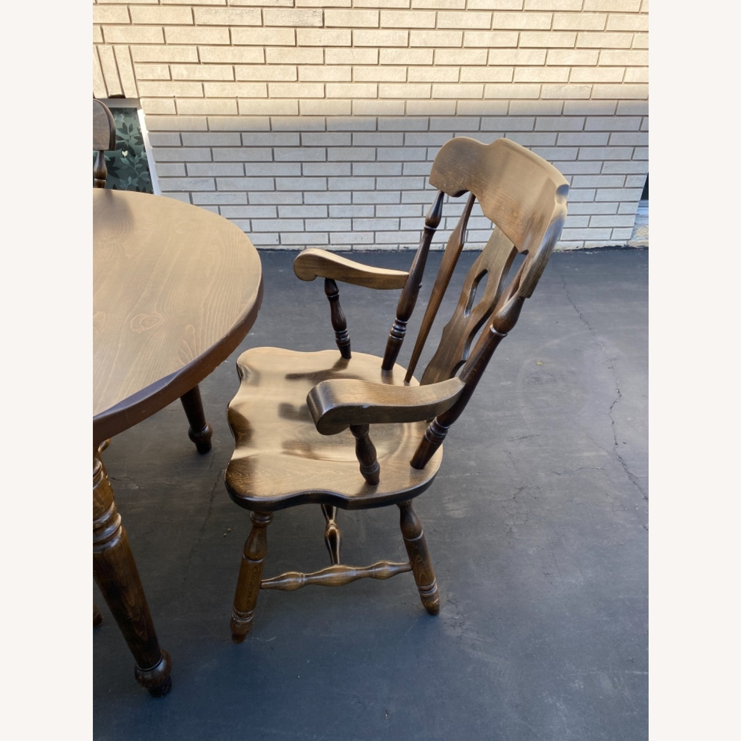 Solid Wood Dining Table with 4 Chairs - image-5