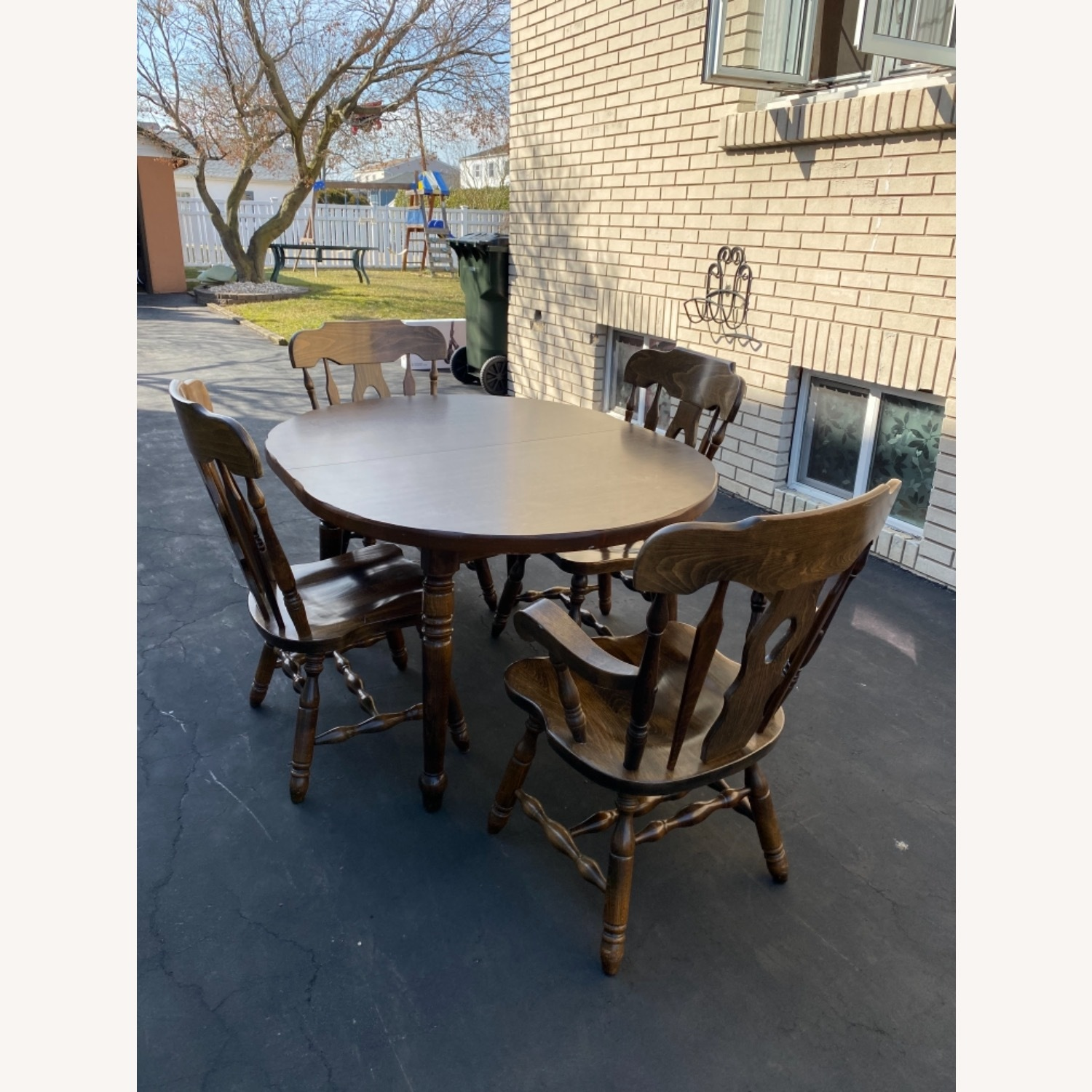 Solid Wood Dining Table with 4 Chairs - image-1