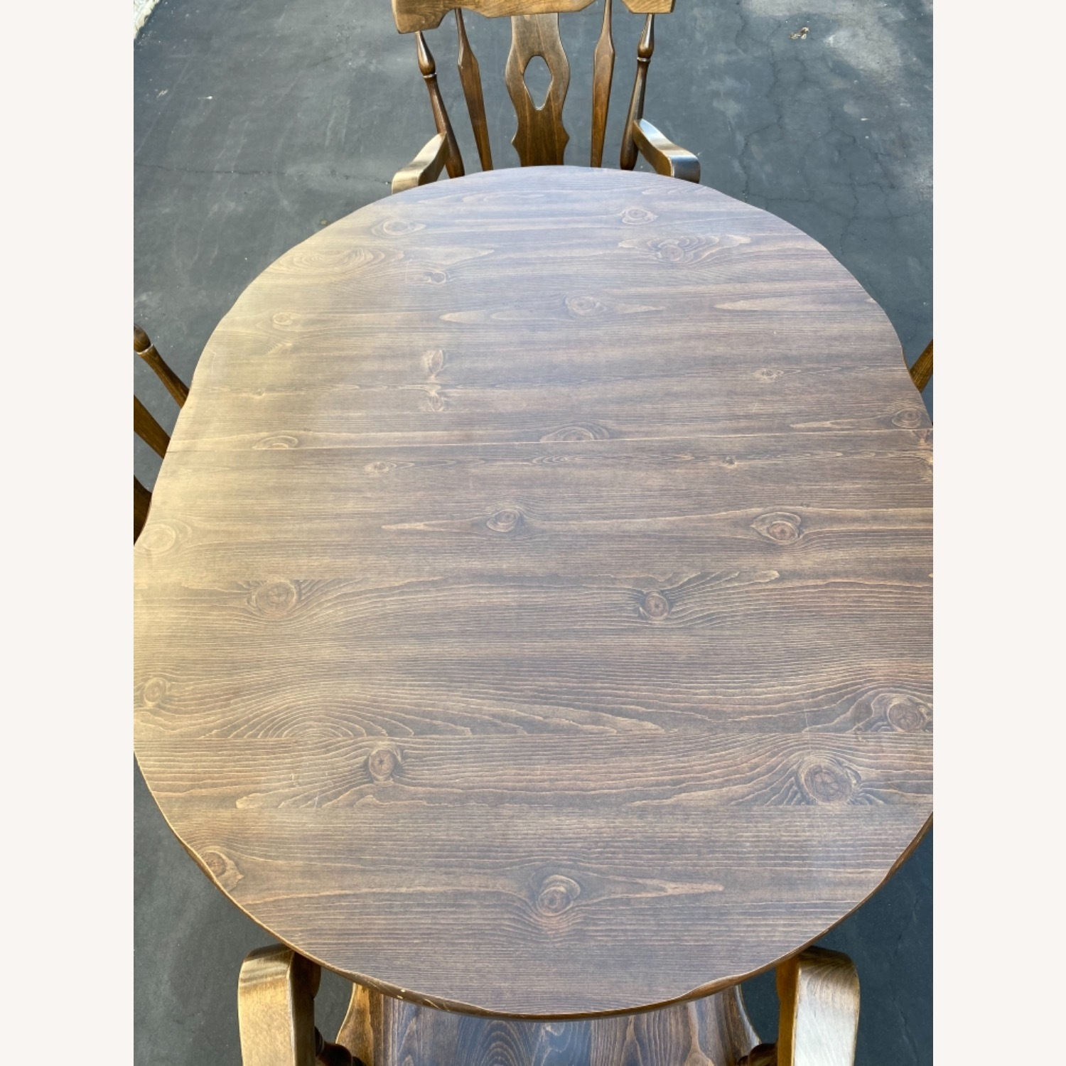 Solid Wood Dining Table with 4 Chairs - image-4