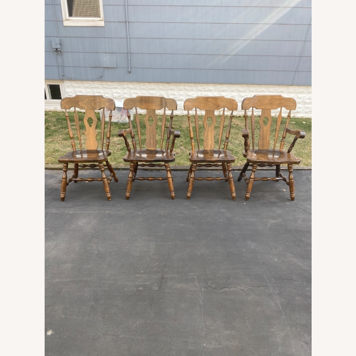 Solid Wood Dining Table with 4 Chairs - image-9