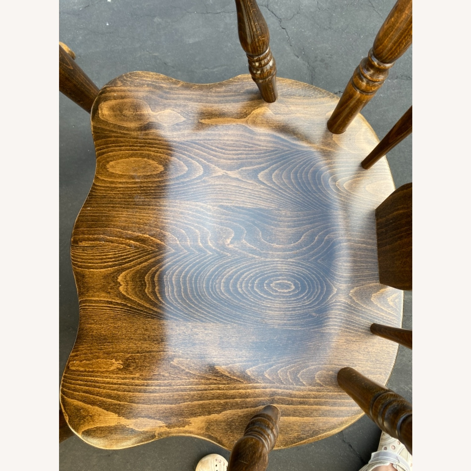 Solid Wood Dining Table with 4 Chairs - image-8