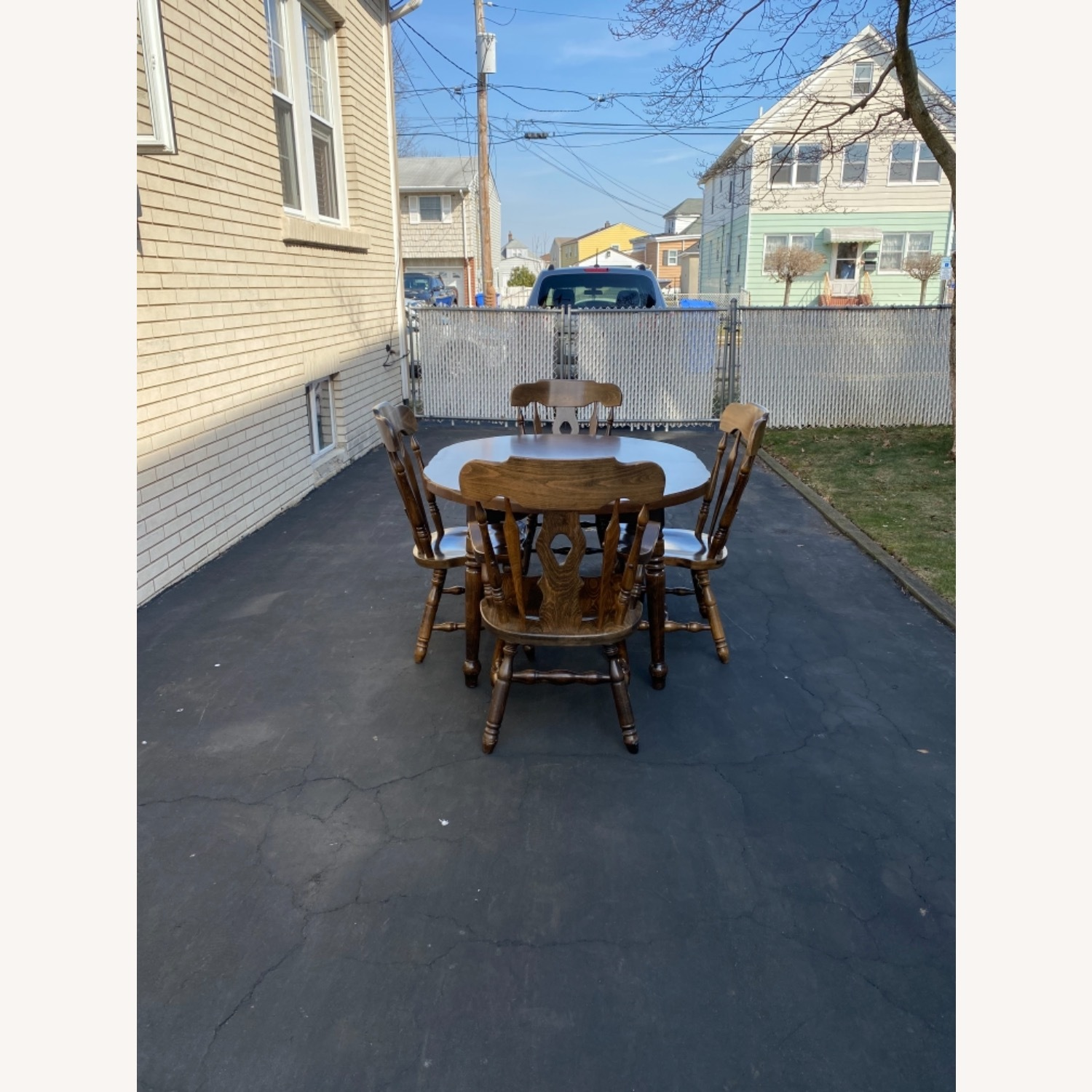 Solid Wood Dining Table with 4 Chairs - image-7