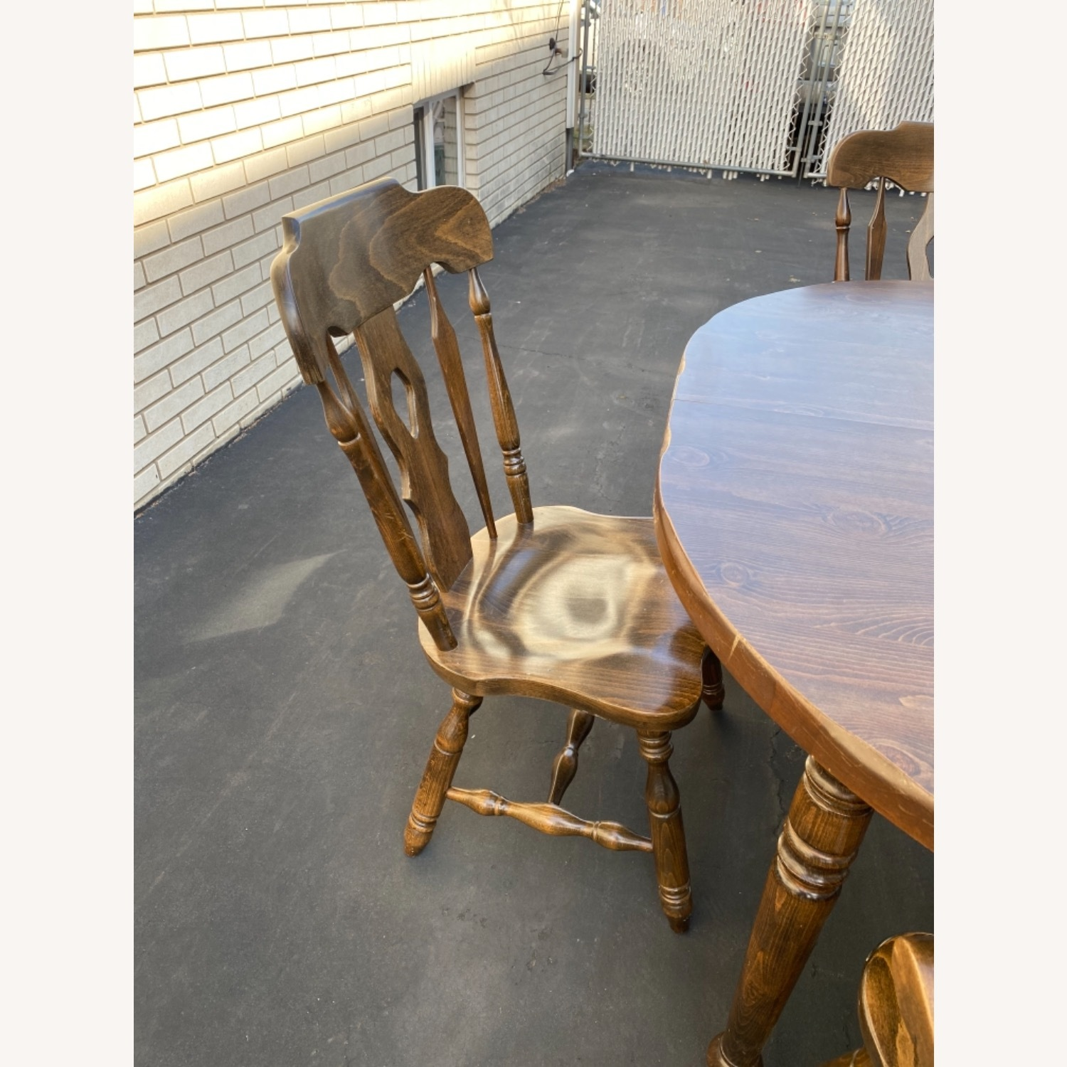 Solid Wood Dining Table with 4 Chairs - image-6