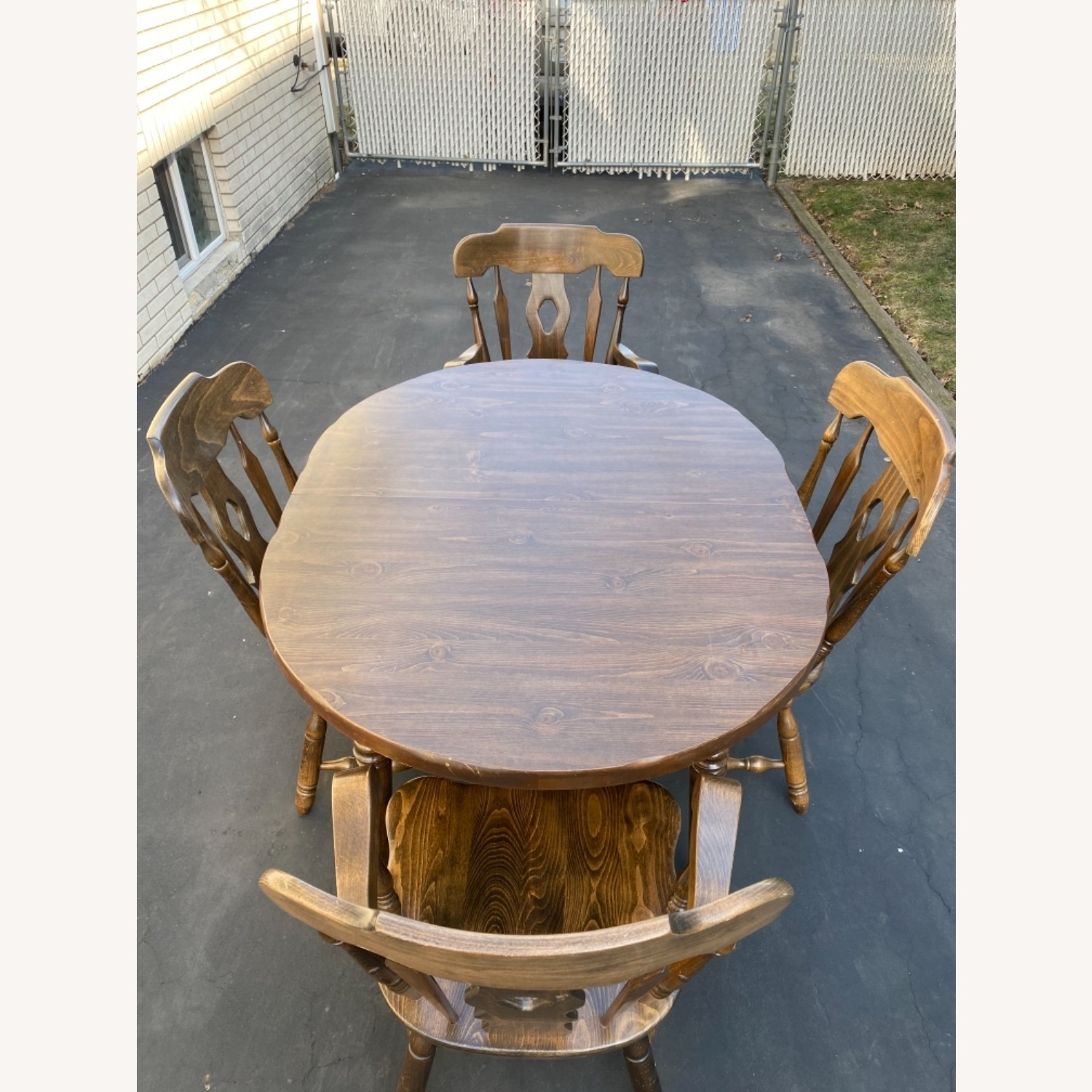 Solid Wood Dining Table with 4 Chairs - image-3
