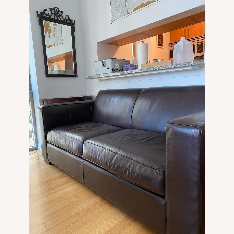Room & Board Dark Brown Ian Leather Sofa - image-2