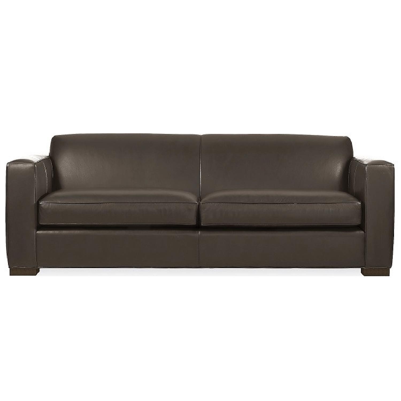 Room & Board Dark Brown Ian Leather Sofa - image-4