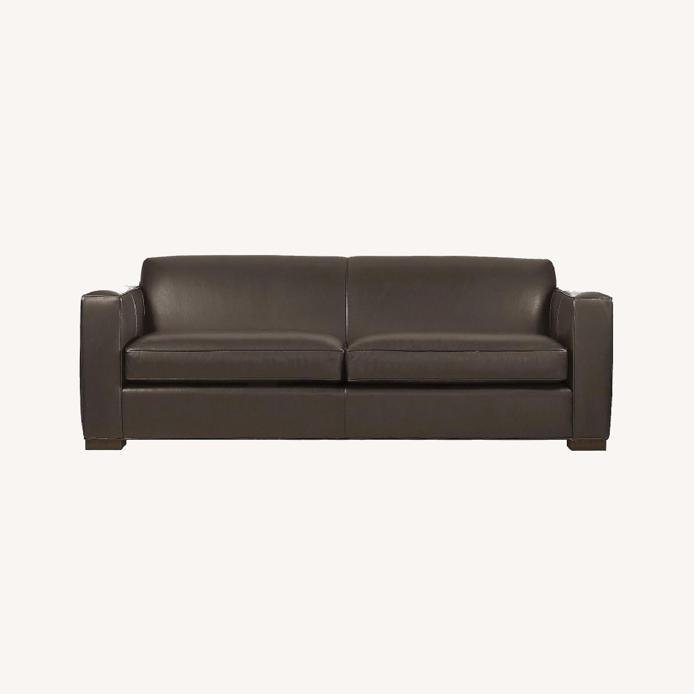 Room & Board Dark Brown Ian Leather Sofa - image-0