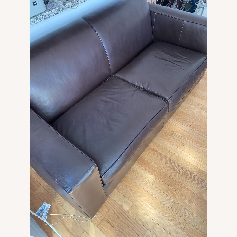 Room & Board Dark Brown Ian Leather Sofa - image-3