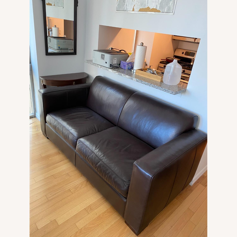 Room & Board Dark Brown Ian Leather Sofa - image-1
