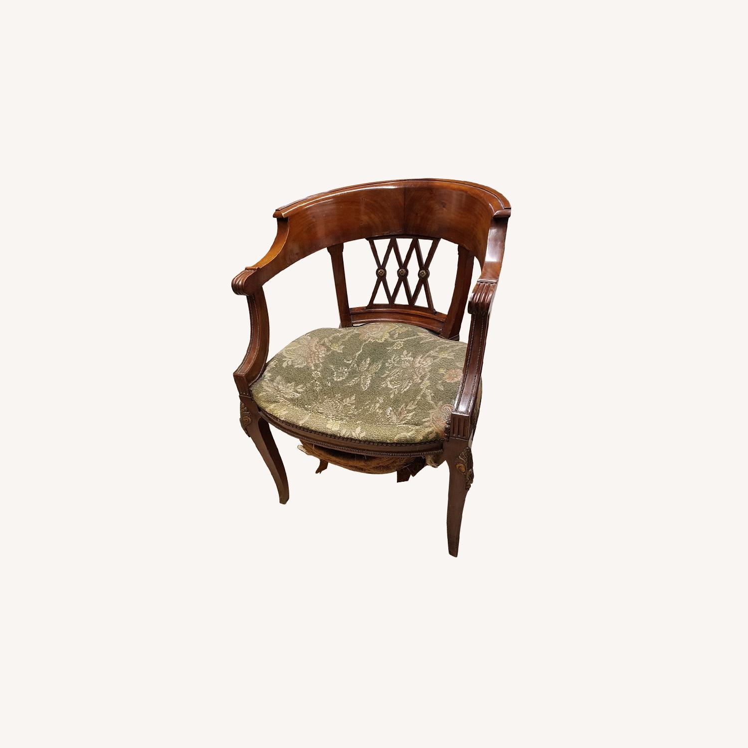 Solid Mhagony Harm Chair - image-0