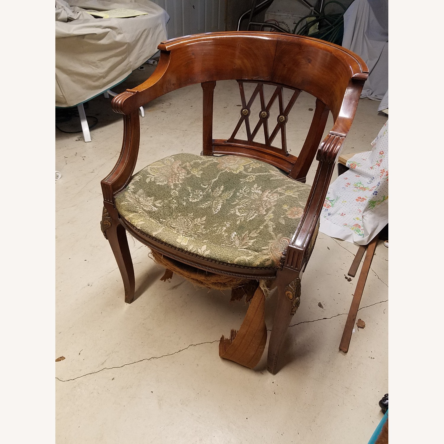 Solid Mhagony Harm Chair - image-1