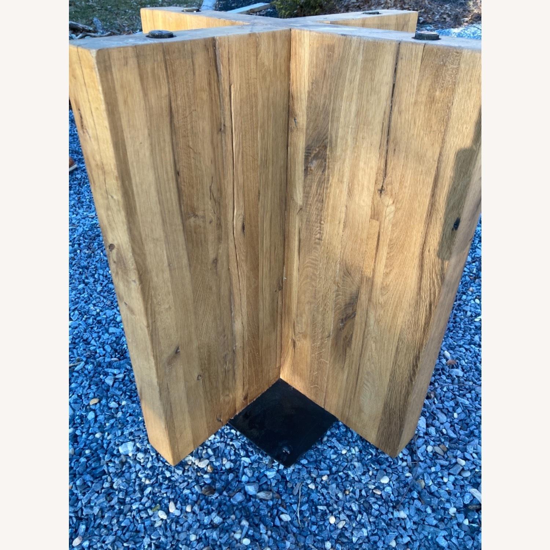 Restoration Hardware Reclaimed Russian Oak Table - image-13