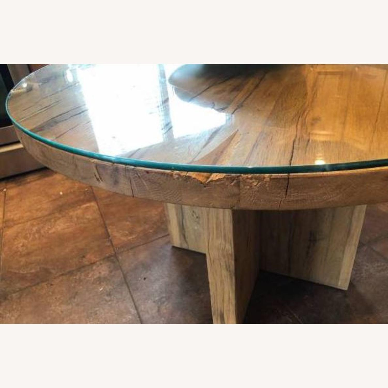 Restoration Hardware Reclaimed Russian Oak Table - image-5