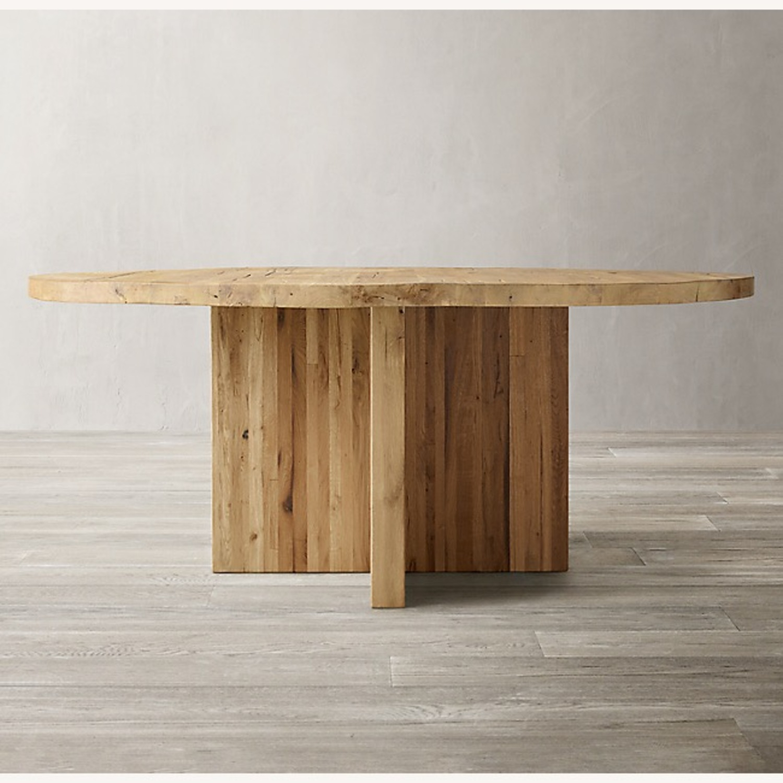Restoration Hardware Reclaimed Russian Oak Table - image-0