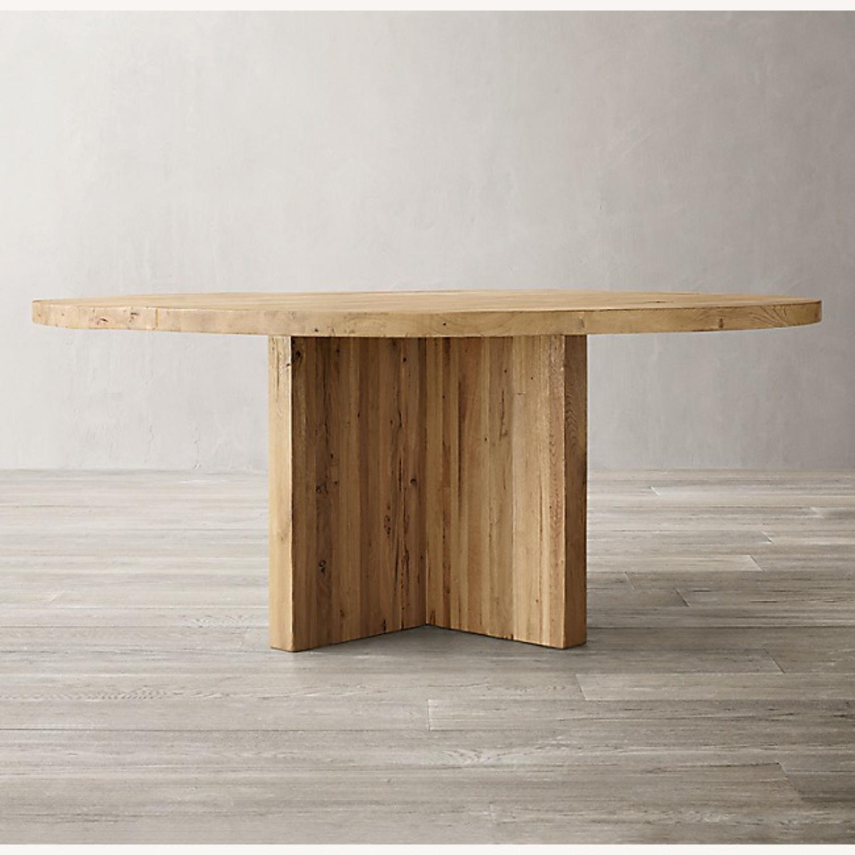 Restoration Hardware Reclaimed Russian Oak Table - image-2