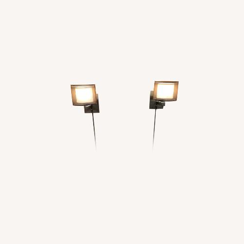 Used Lowe's 2 Wall Sconces for sale on AptDeco