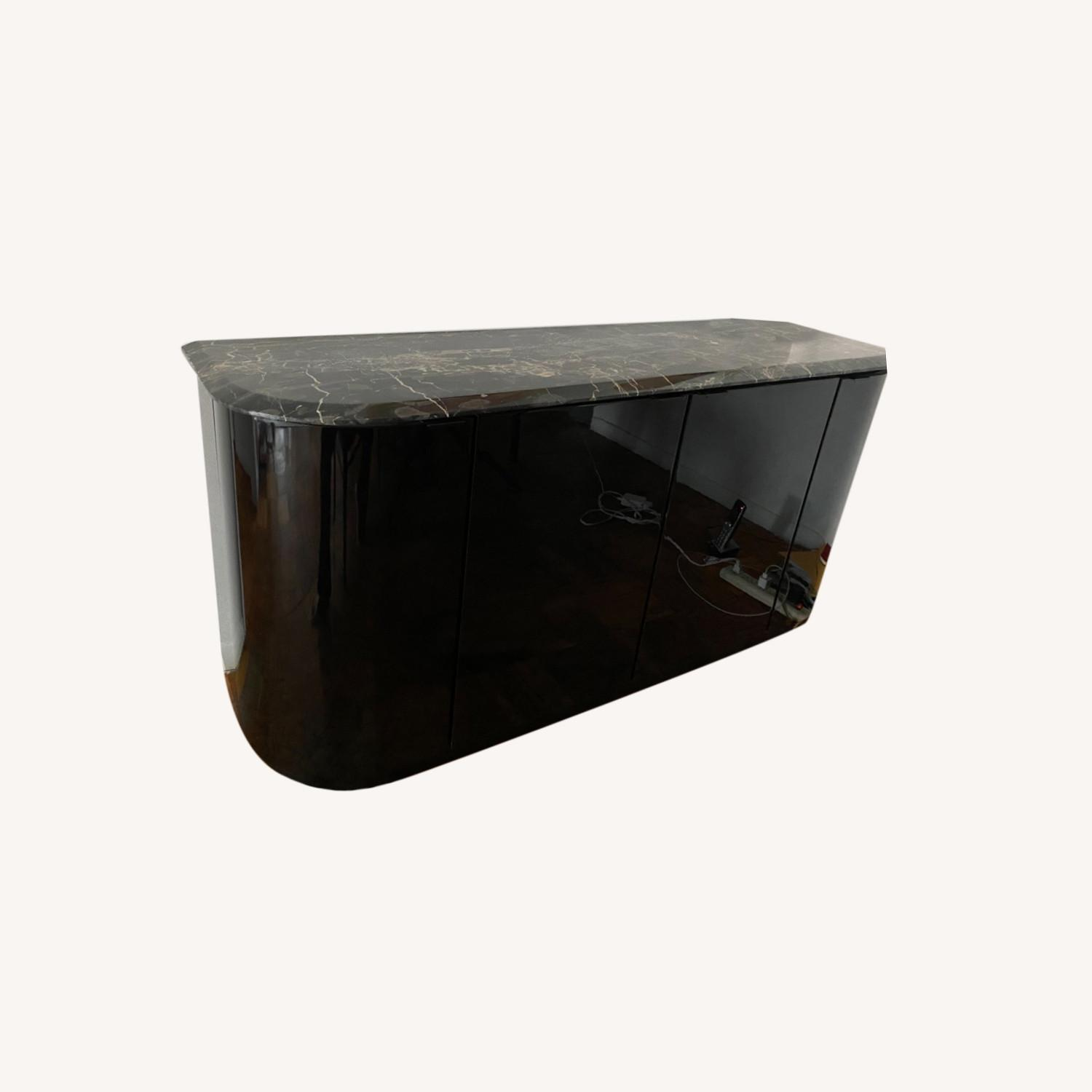 Maurice Villency Black Lacquer Credenza - image-0