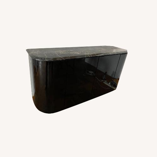 Used Maurice Villency Black Lacquer Credenza for sale on AptDeco