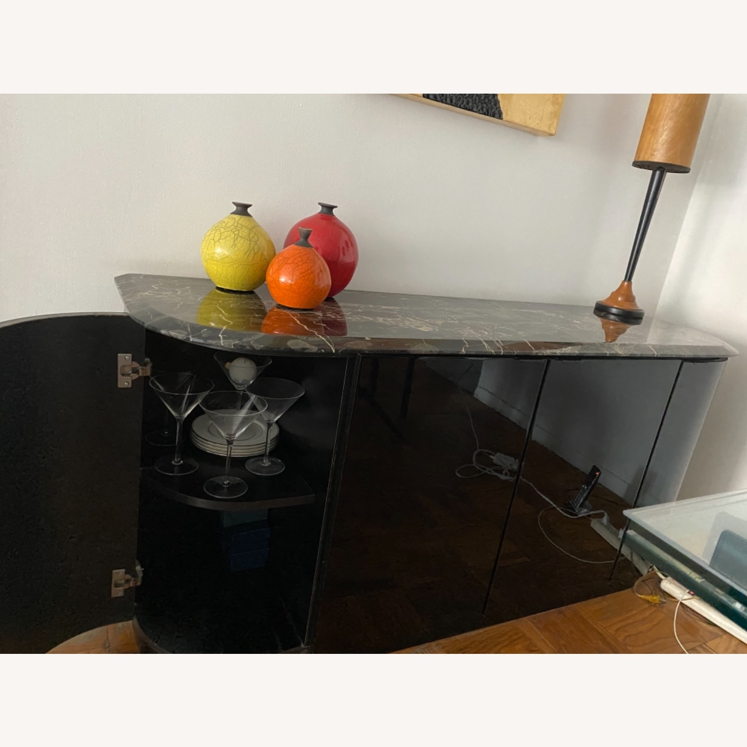 Maurice Villency Black Lacquer Credenza - image-1