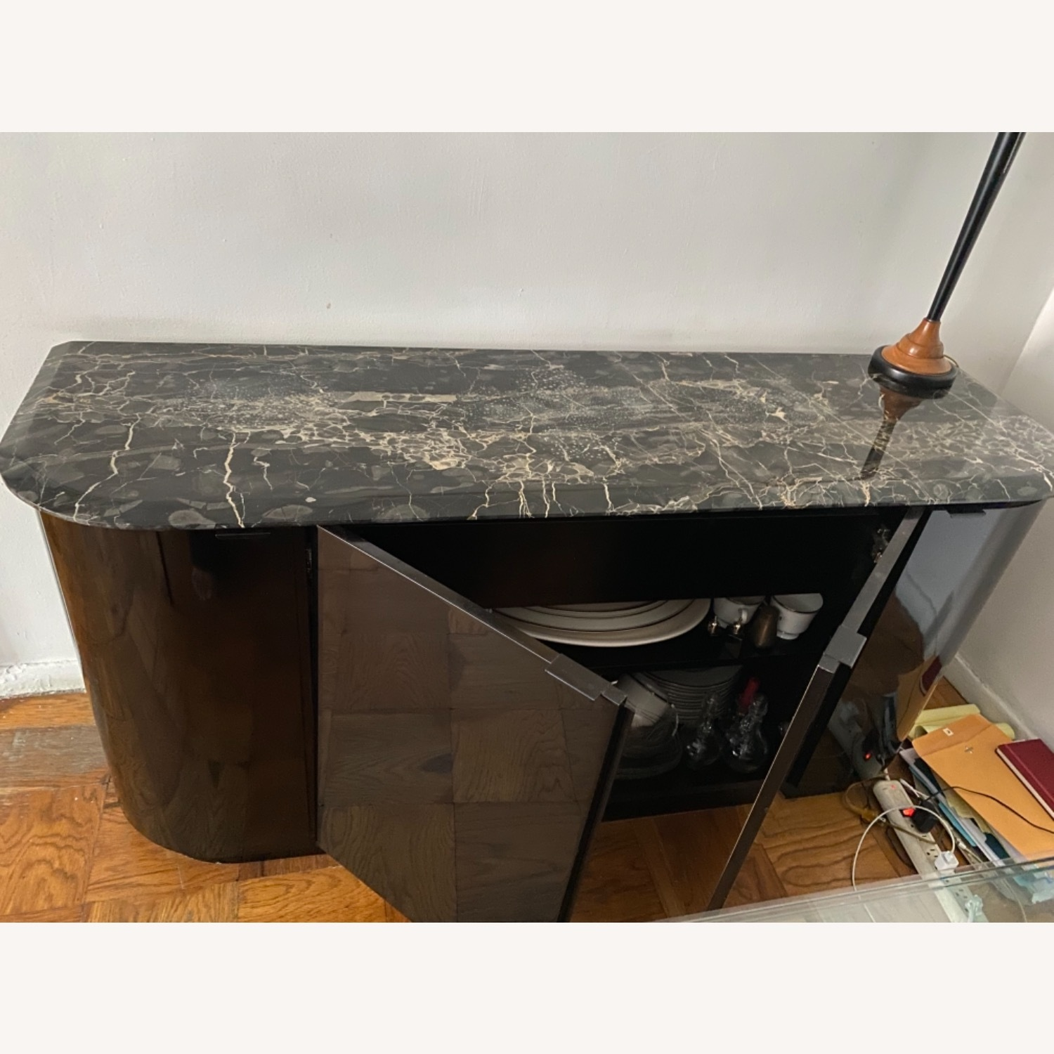 Maurice Villency Black Lacquer Credenza - image-3