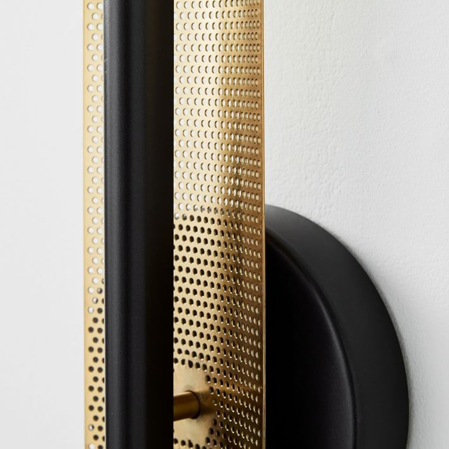 West Elm LED Perforated Sconce, Dark Bronze - image-3