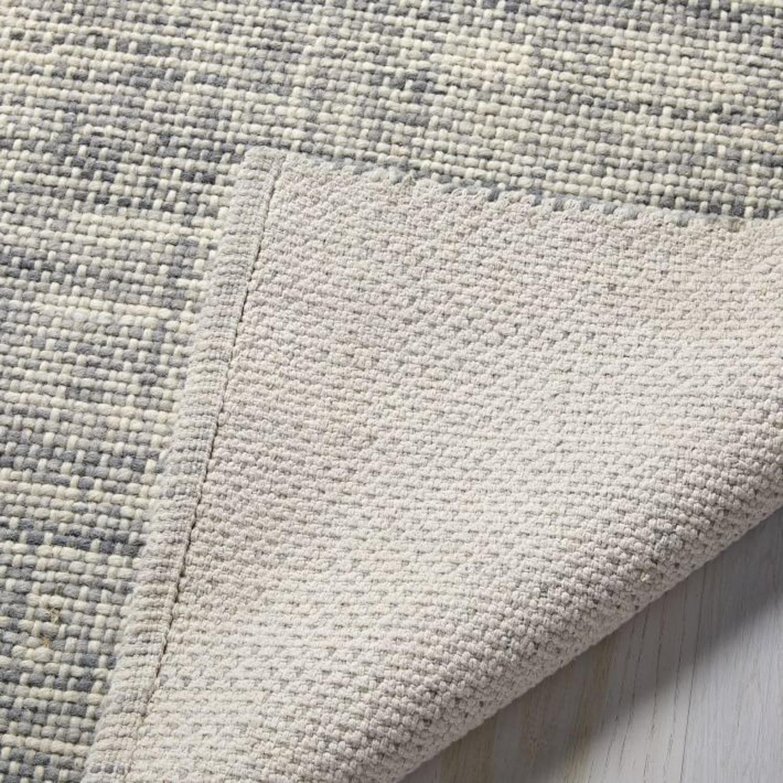 West Elm Heathered Basketweave Wool Rug - image-3