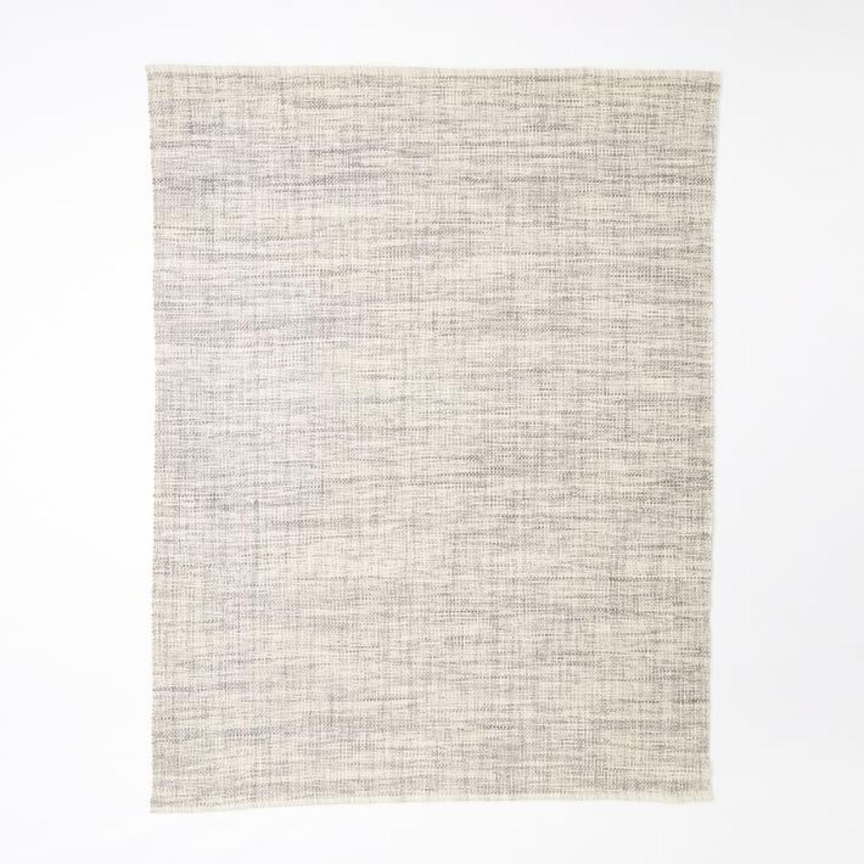 West Elm Heathered Basketweave Wool Rug - image-1