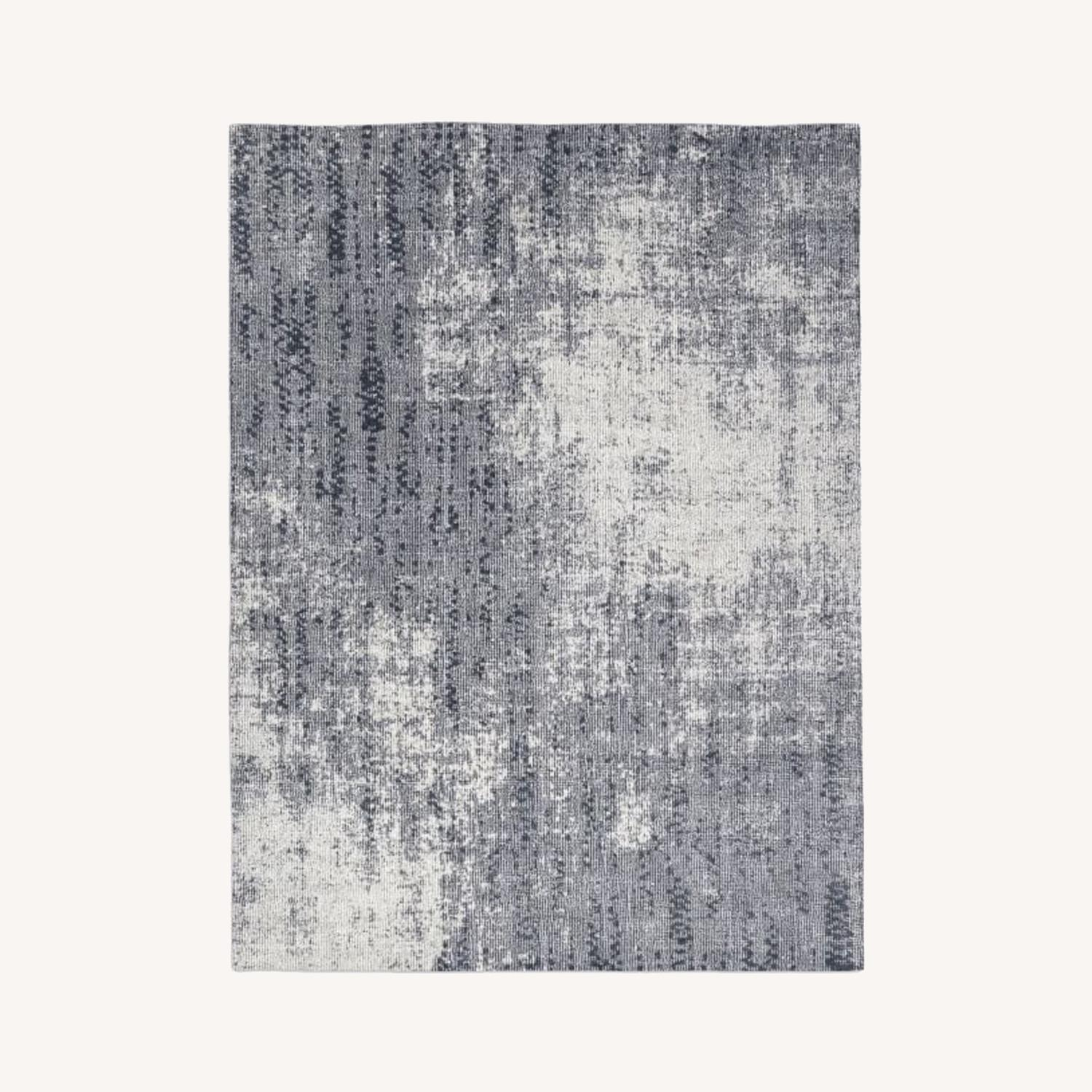 West Elm Distressed Foliage Rug, Pewter - image-0