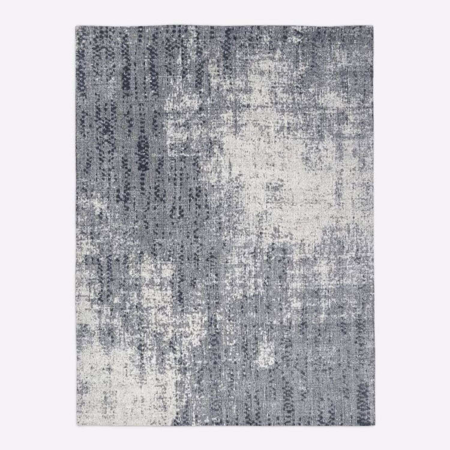 West Elm Distressed Foliage Rug, Pewter - image-3