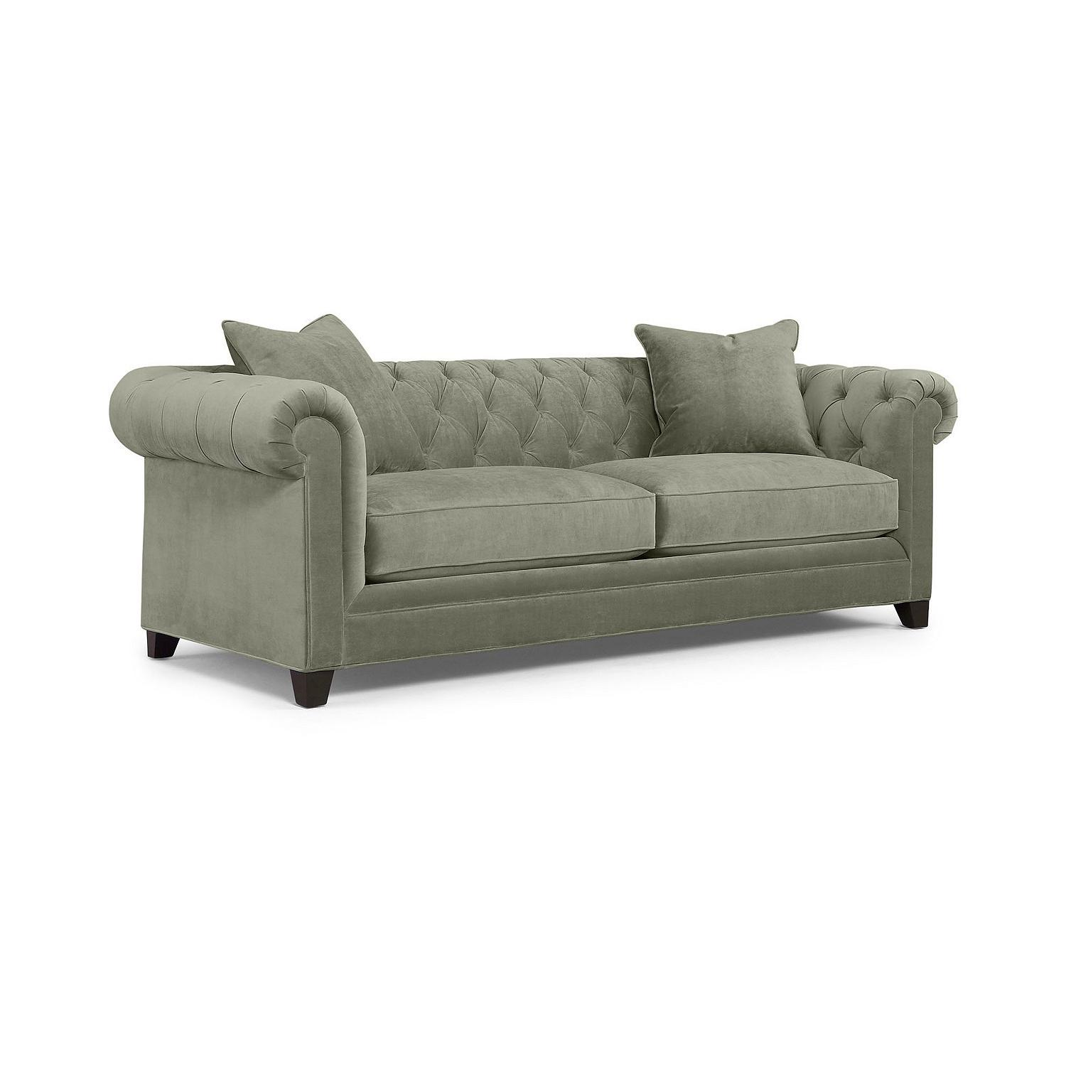 Macy's Martha Stewart Chesterfield Sofa in Blue - image-0