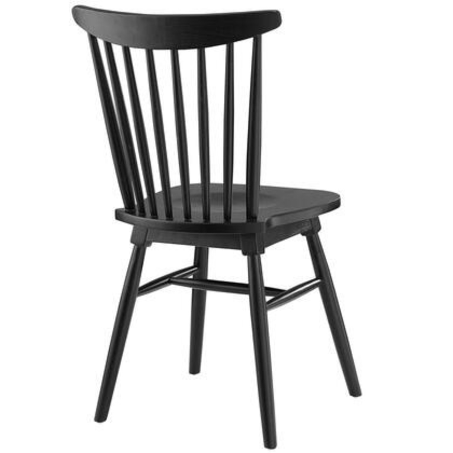 Contemporary Dining Chair In Black Elm Wood Finish - image-2