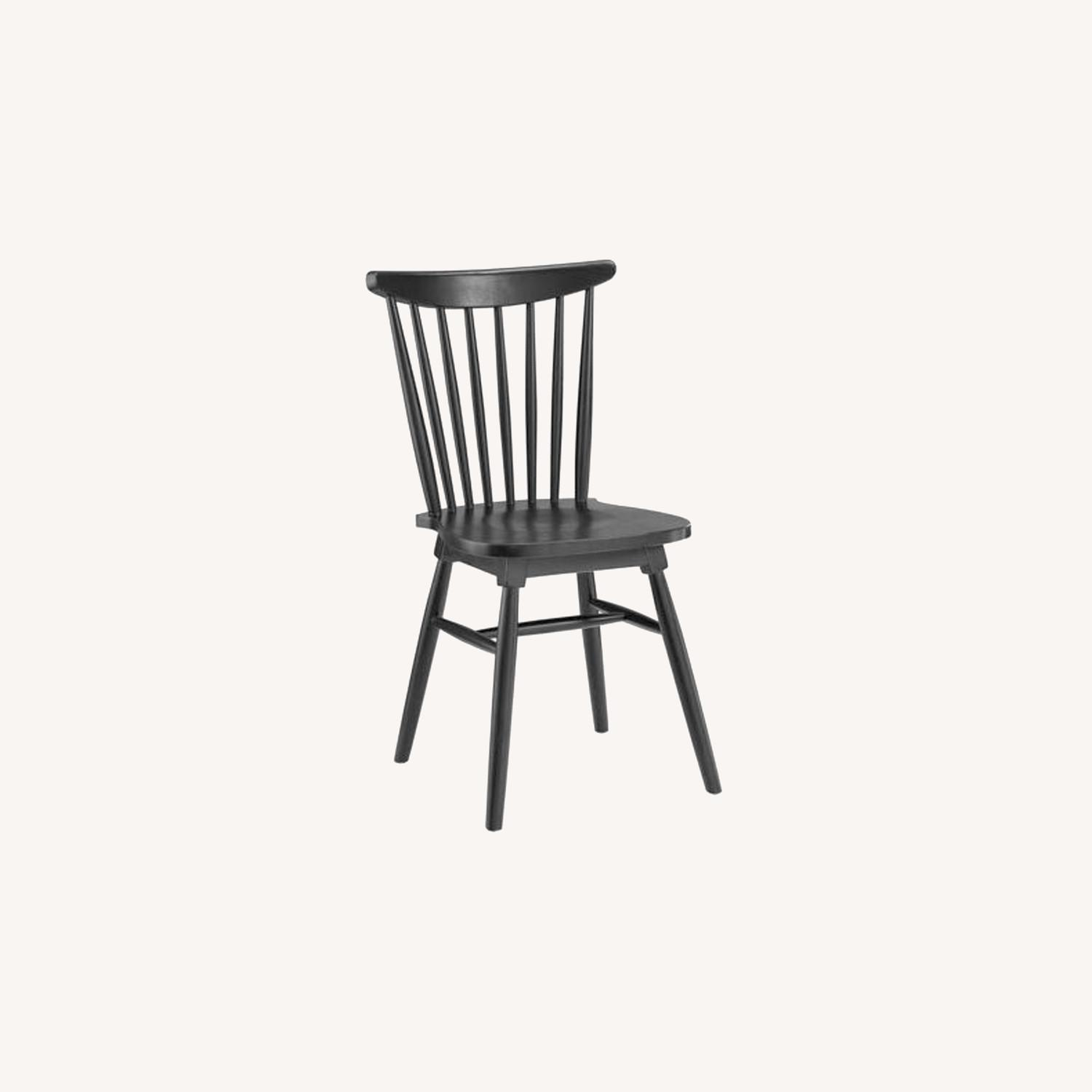 Contemporary Dining Chair In Black Elm Wood Finish - image-5