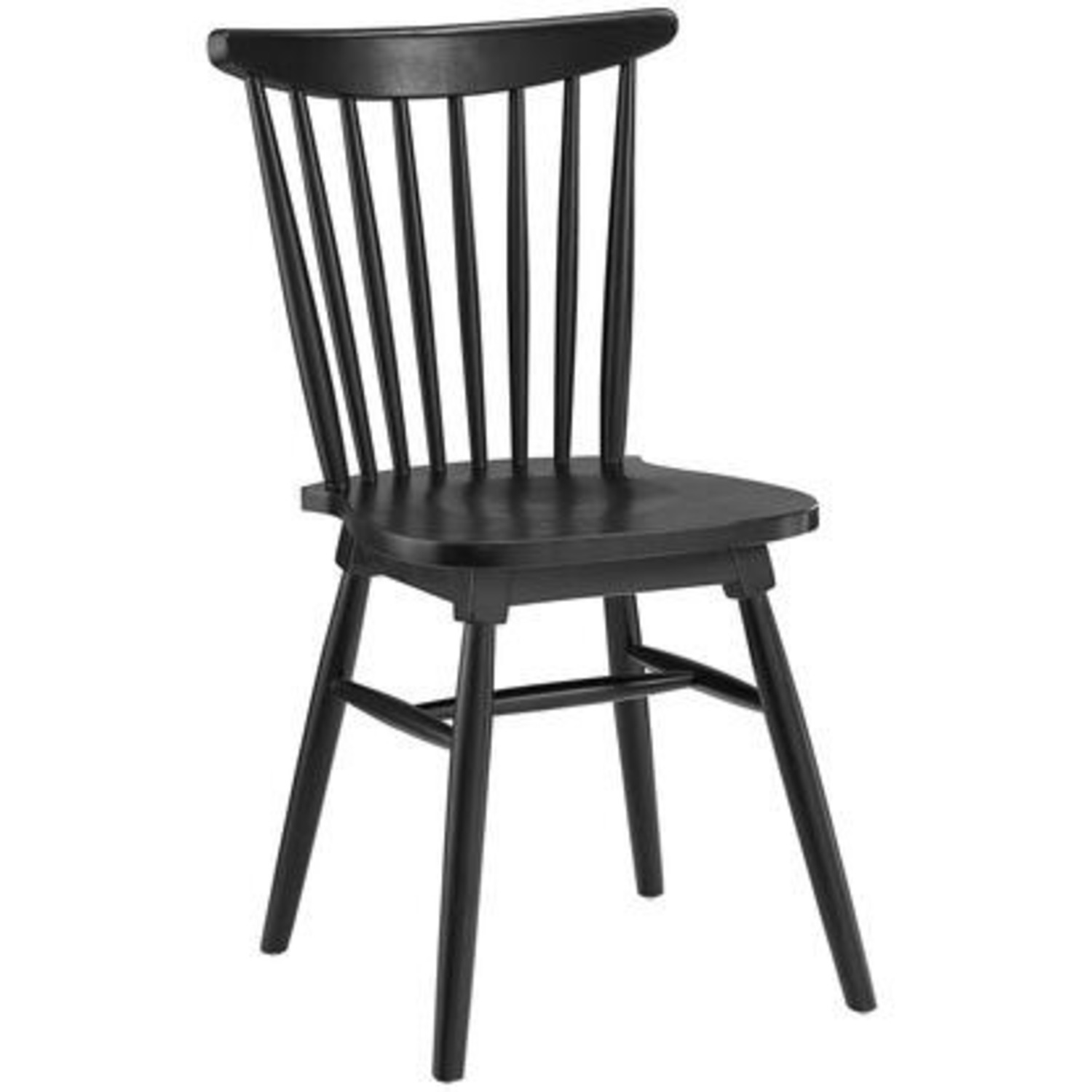 Contemporary Dining Chair In Black Elm Wood Finish - image-0