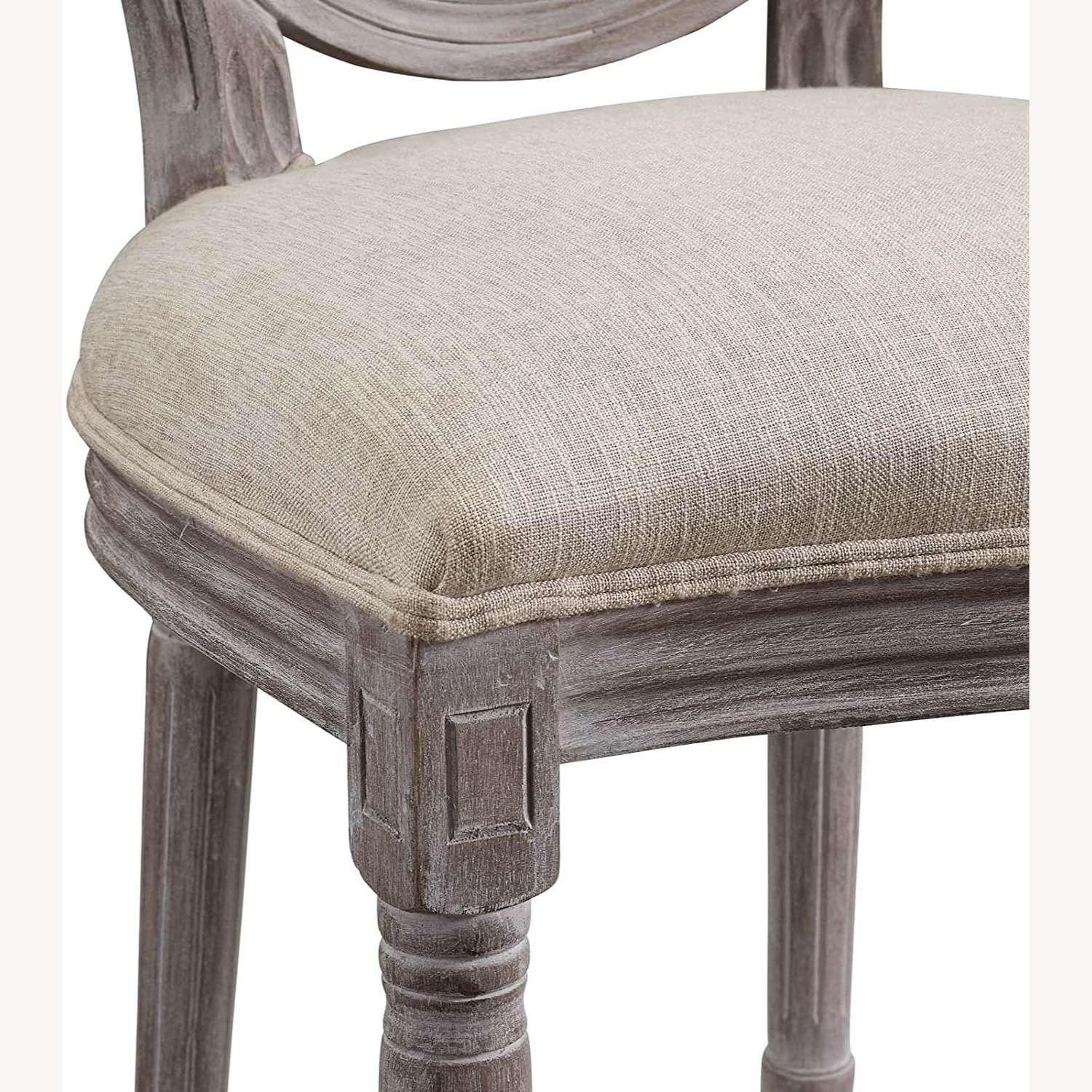 Traditional Dining Chair In Beige Fabric Finish - image-3